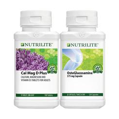 Nutrilite Cal Mag D Plus (180 tab) and Nutrilite OsteGlucosamine (120 cap)