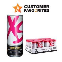 Minuman Tenaga XS Pink Grapefruit Fiery Blaze - 4 Pek Terdiri Daripada 6 Tin Setiap Satu